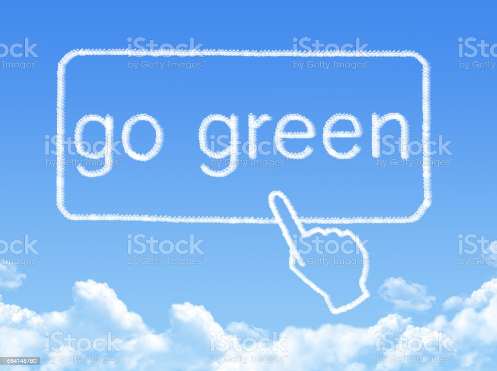 Go Green message cloud shape foto stock royalty-free