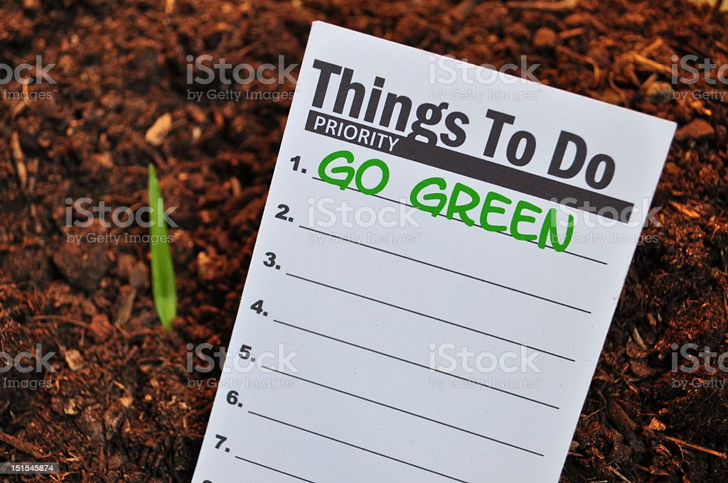 Go Green royalty-free stock photo