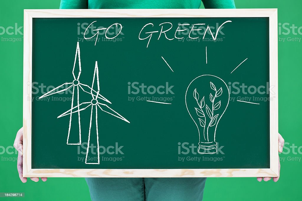 Go green royalty-free stock photo
