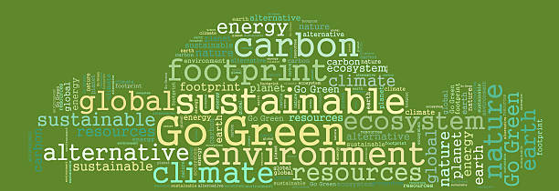 Go green word cloud stock photo