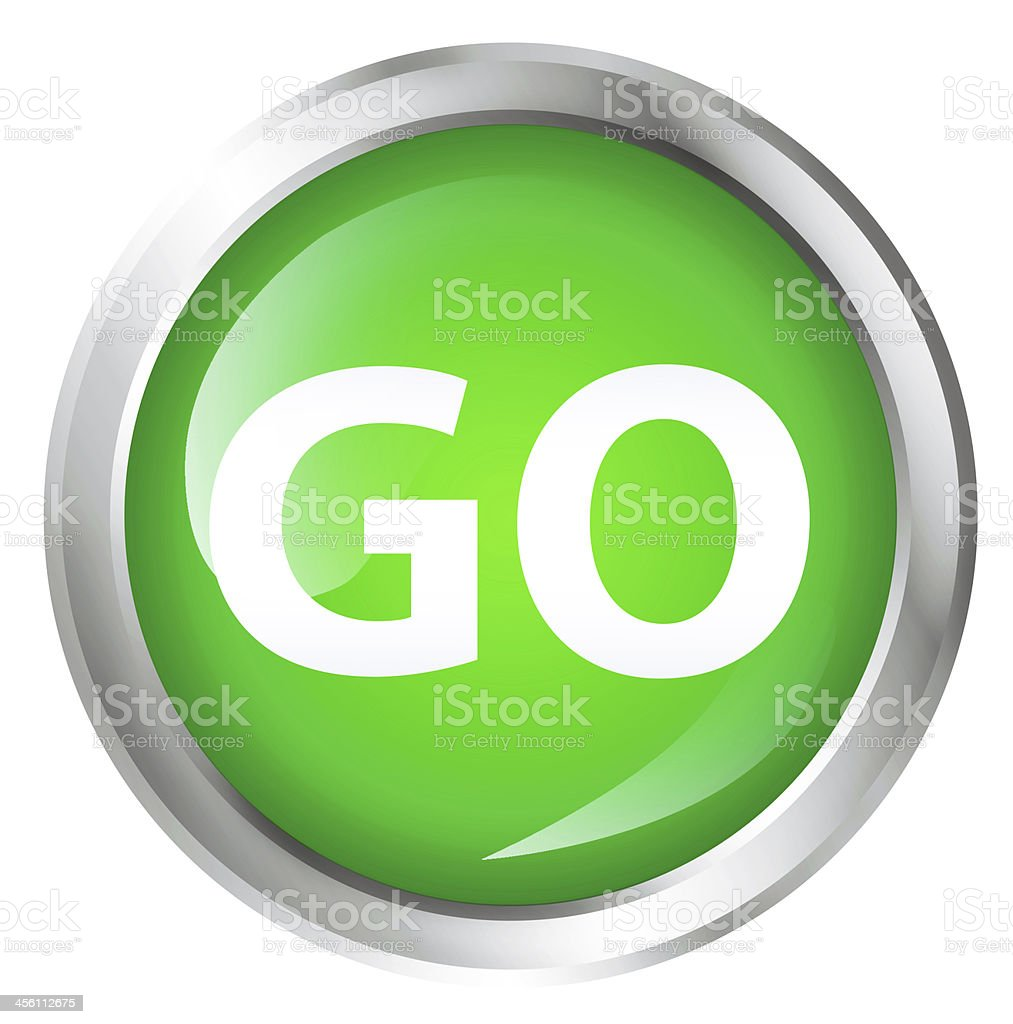 Go icon stock photo