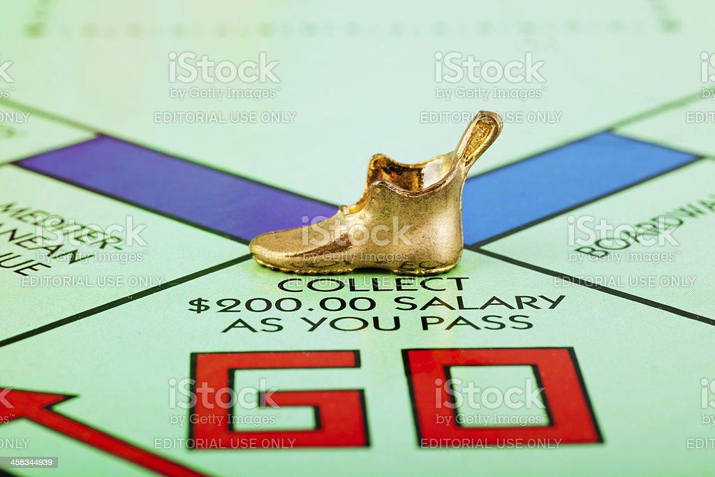 Go Monopoly royalty-free stock photo