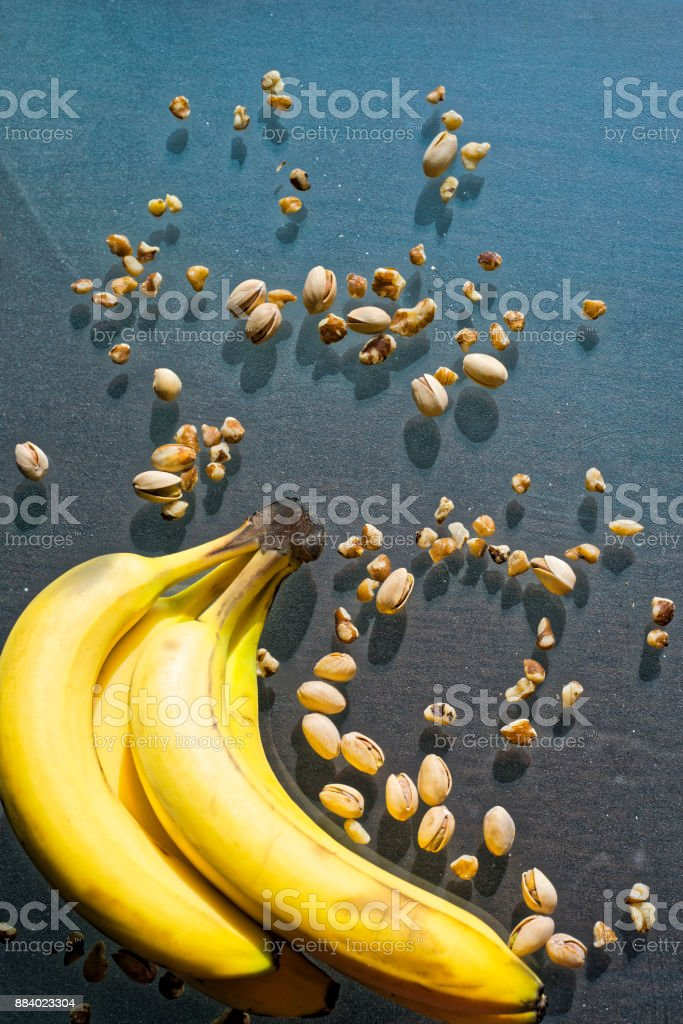 Go Nuts and Bananas stock photo