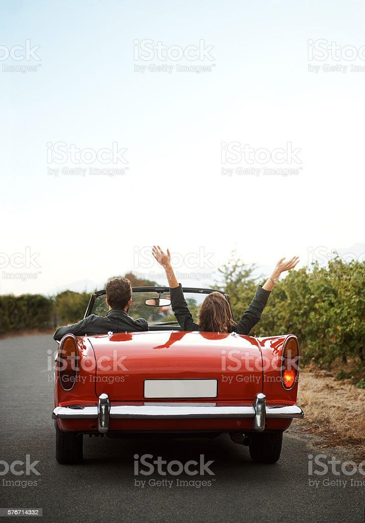 Go on a road trip with someone fun stock photo