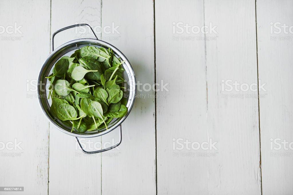 Go on, eat ya greens stock photo