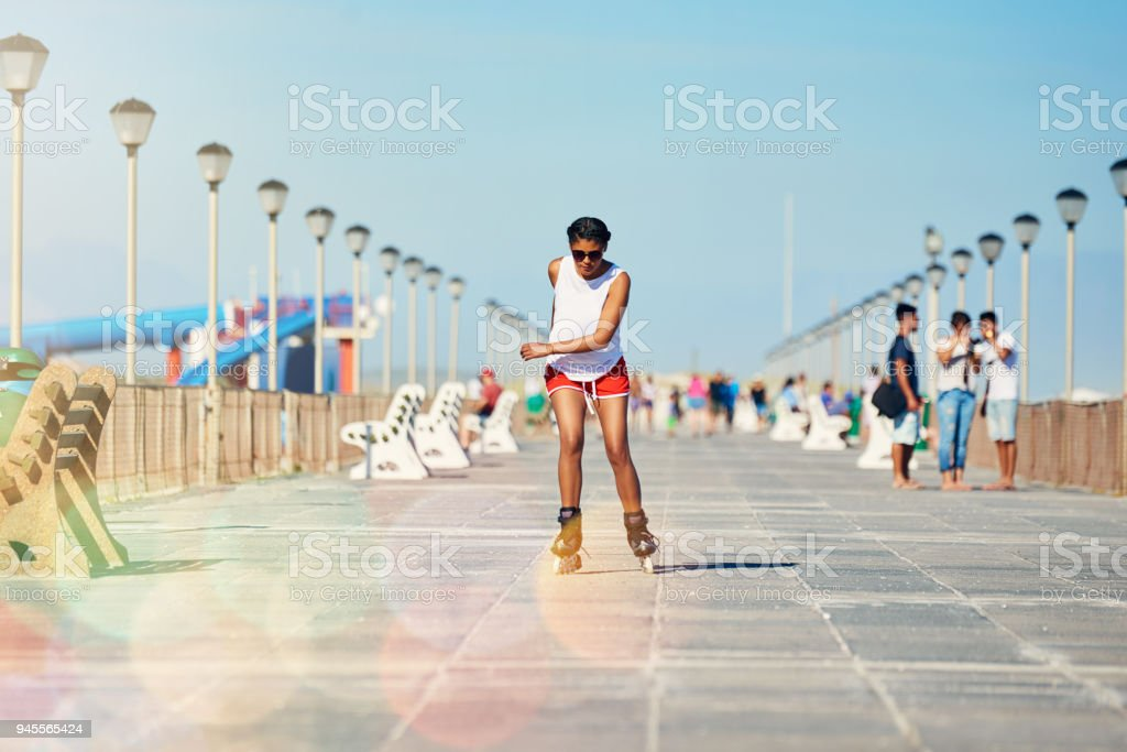 Go out and skate before it's too late stock photo