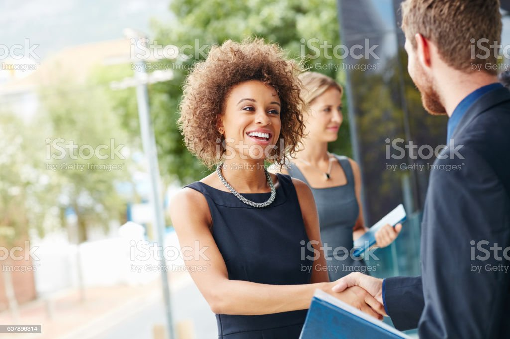 Go outside and meet new people stock photo