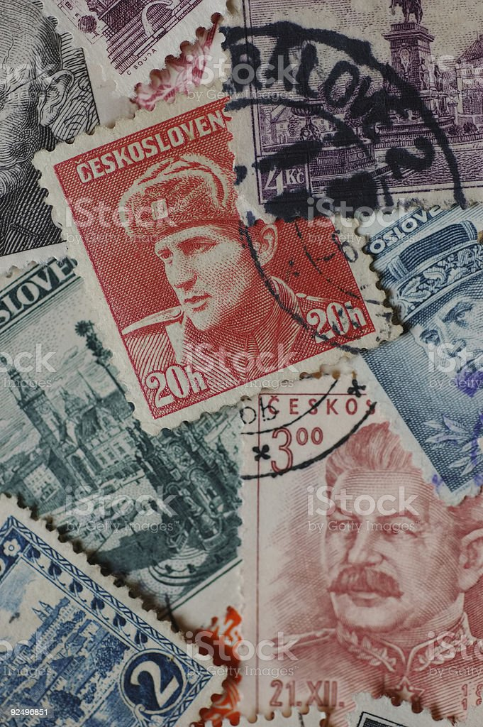 Go Postal - Czechoslovakia royalty-free stock photo