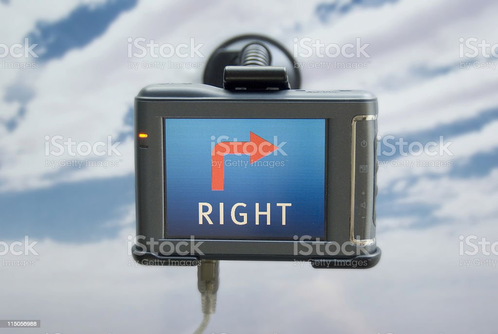 GPS go right around the corner royalty-free stock photo