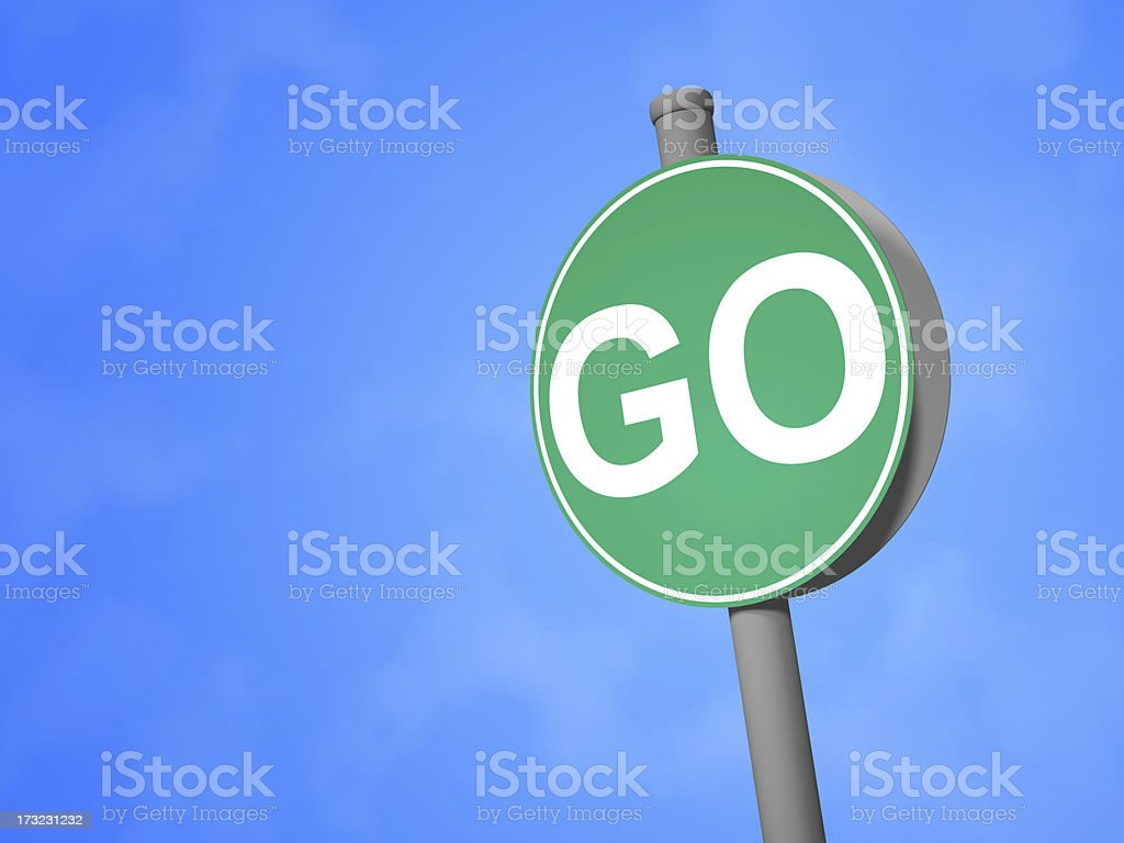 Go Sign royalty-free stock photo