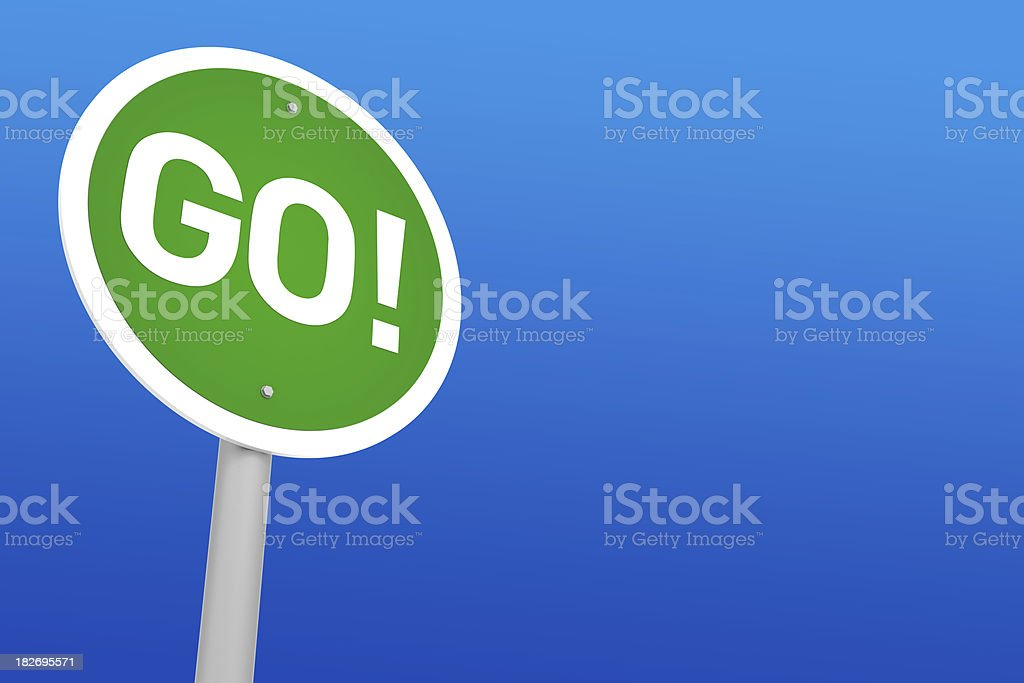 Go! Sign royalty-free stock photo