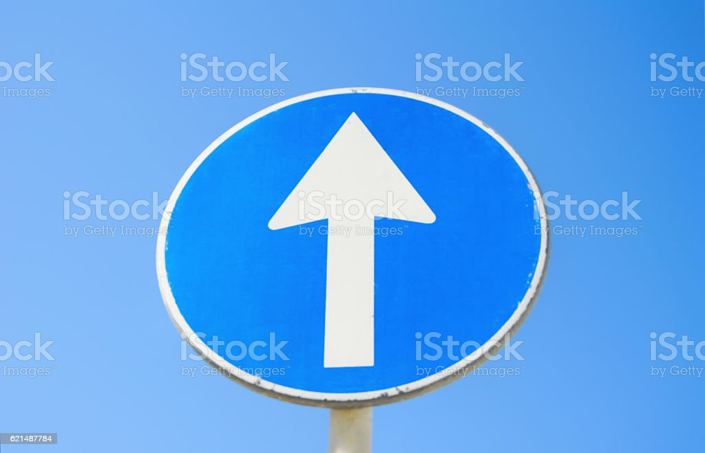 Go straight traffic sign foto stock royalty-free