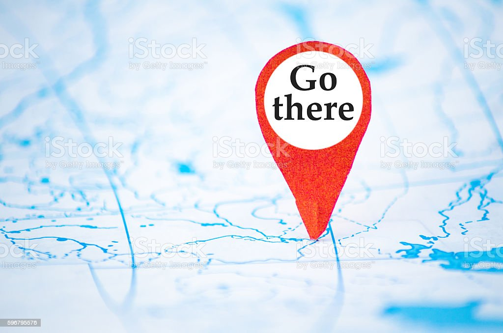 Go there stock photo