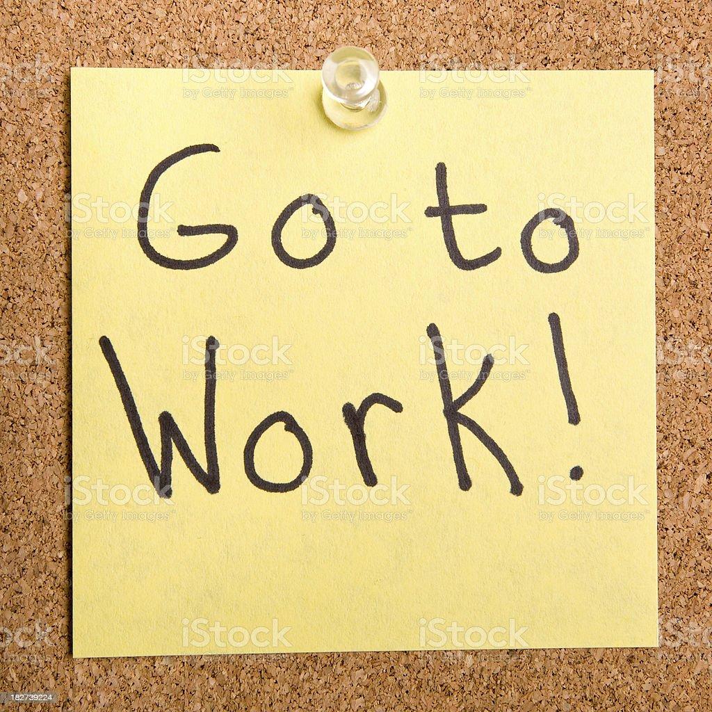 Go to work! royalty-free stock photo