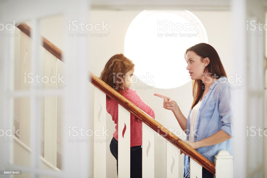 Go to your room and think about what you've done stock photo