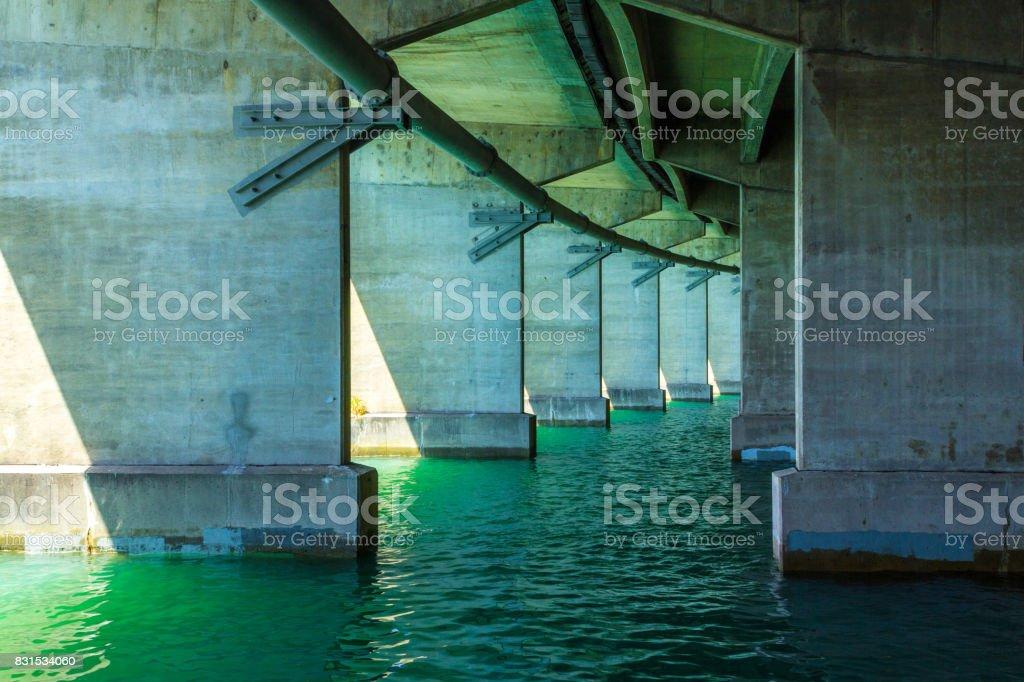 Go Under Harbour Bridge Auckland, New Zealand stock photo