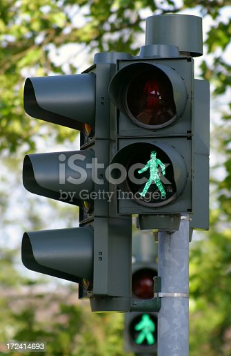 stoplight for pedestrians in germany