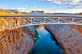 Recreational Vehicle Crossing the Colorado River