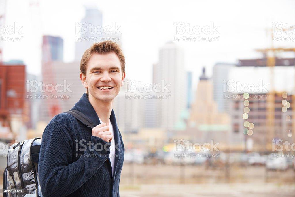 Go wherever makes you happy stock photo