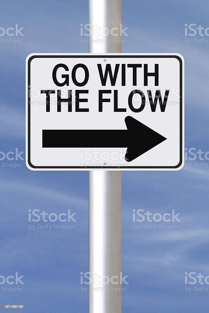 Go With The Flow stock photo