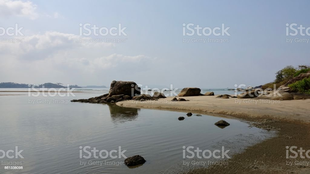 Goa beach stock photo