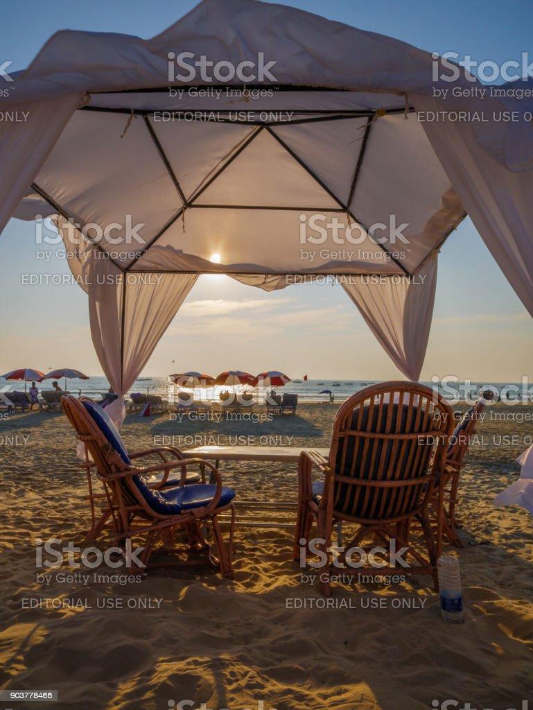 Goa Beach Resort stock photo