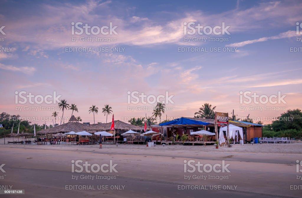 Goa Beach Restaurant stock photo