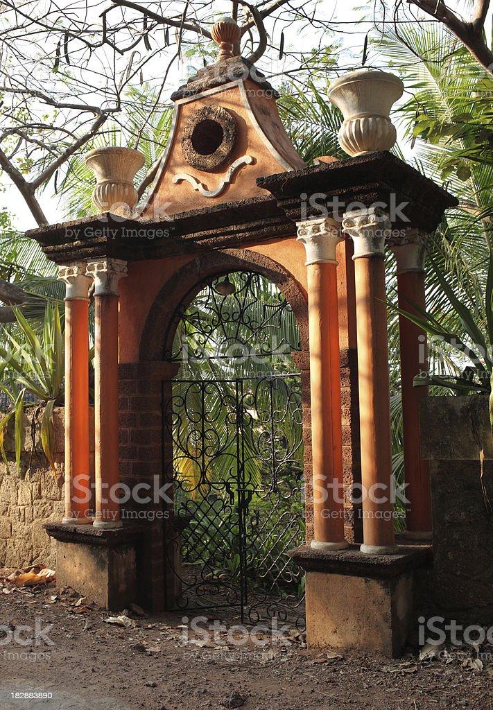 Goa Cemetery Gate royalty-free stock photo