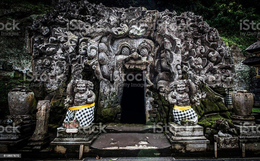 Goa Gajah cave stock photo