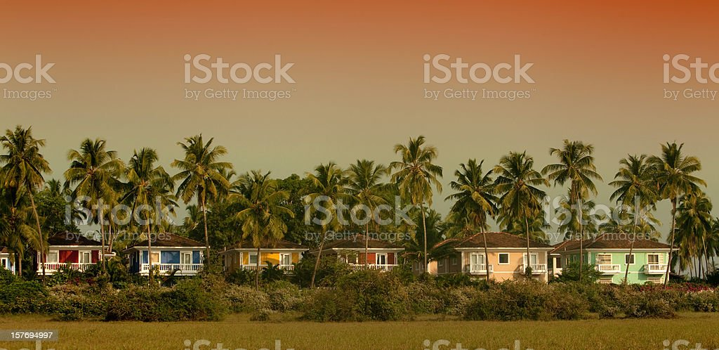 Goa resort in Jungle stock photo