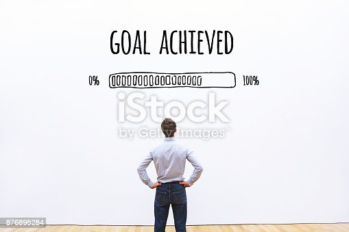 istock goal achieved progress loading bar 876895284