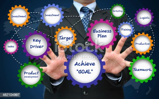 istock Goal achievement for business successful concept 452104997