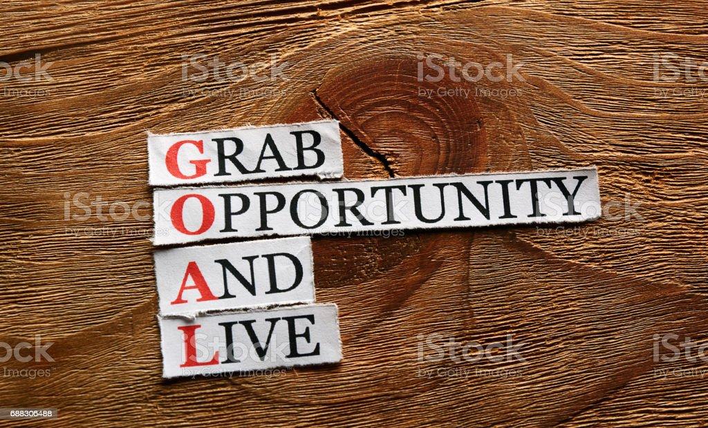 goal acronym concept stock photo
