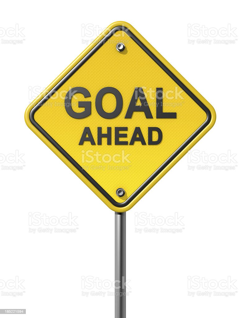 Goal Ahead Road Sign royalty-free stock photo