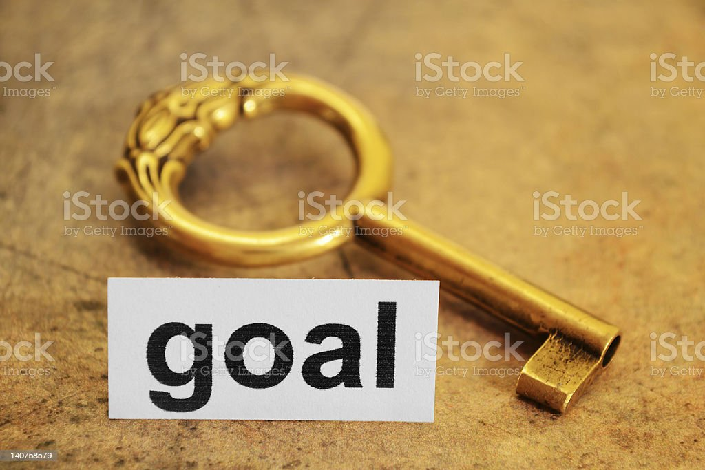 Goal concept royalty-free stock photo