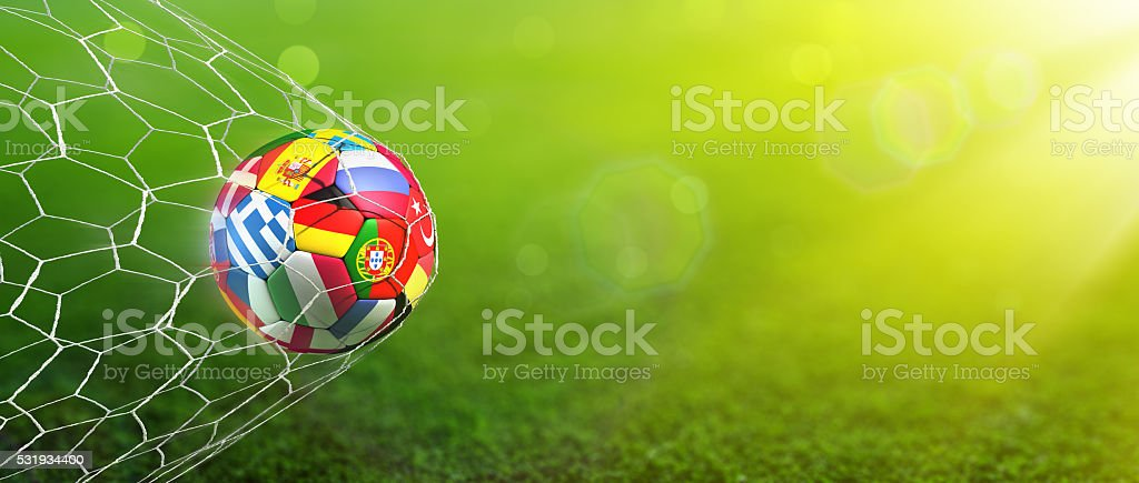 Goal - European Football Championship stock photo