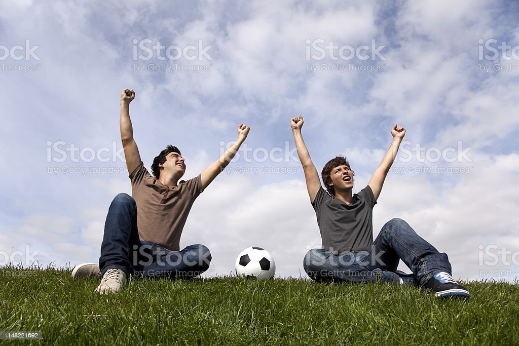Goal for my team royalty-free stock photo