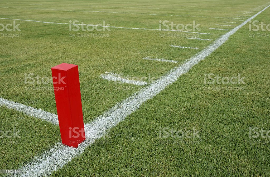 Goal Line Marker stock photo