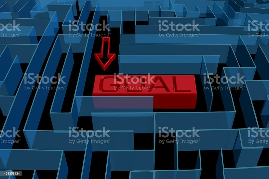 Goal maze concept royalty-free stock photo