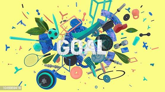 istock Goal message banner 1049959416