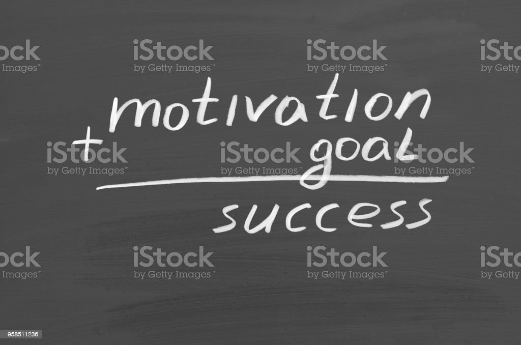 Goal Motivation Success Text On Chalkboard Inspirational Quote Stock