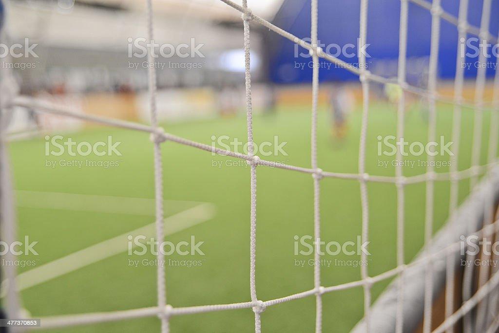 Goal net royalty-free stock photo