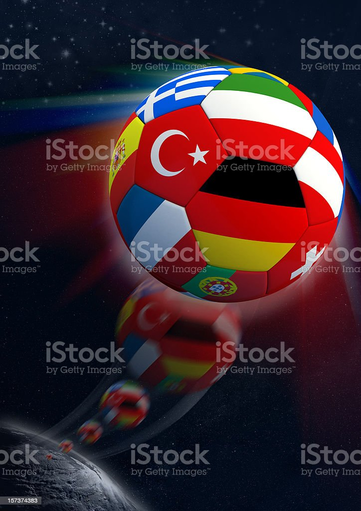 Goal out of Space royalty-free stock photo