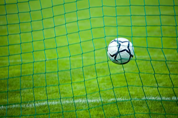 goal! - soccer goal stockfoto's en -beelden