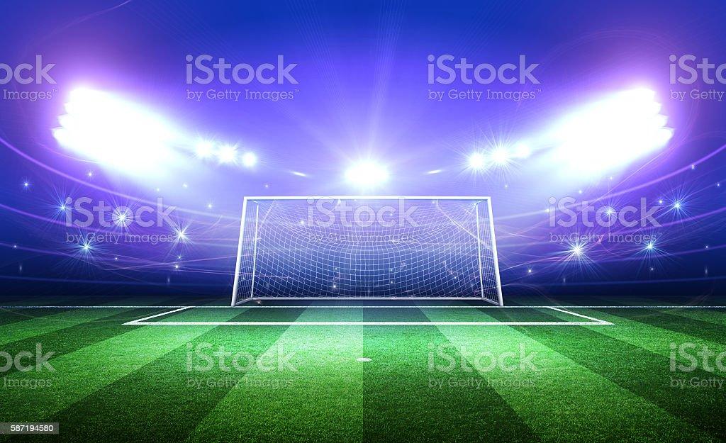 Goal post 3d stock photo