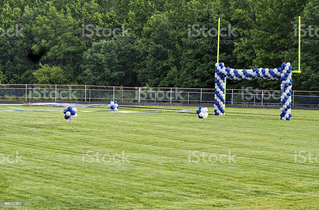 Goal Post and Balloons royalty-free stock photo