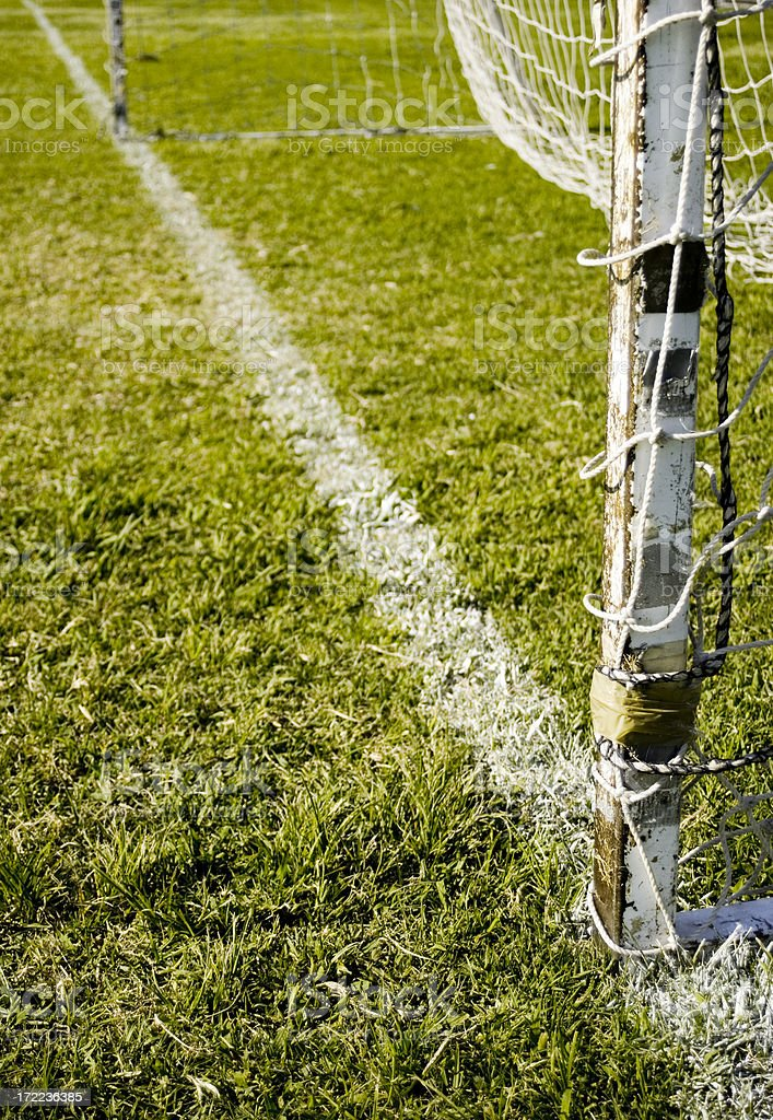 Goal post and line royalty-free stock photo