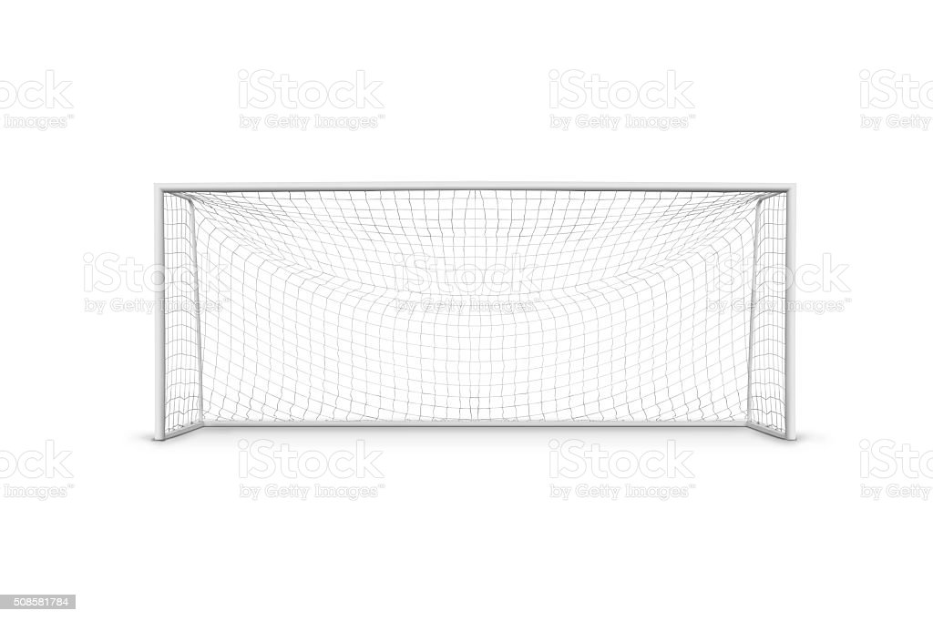Goal post stock photo
