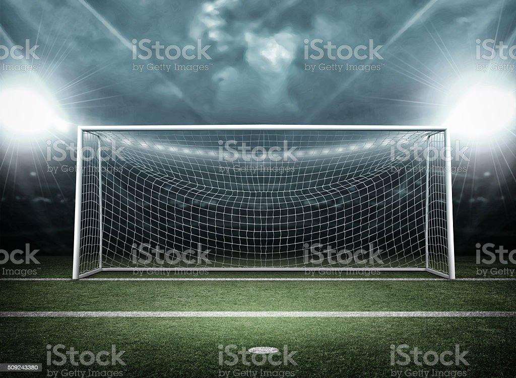 Goal post - Lizenzfrei Beleuchtet Stock-Foto