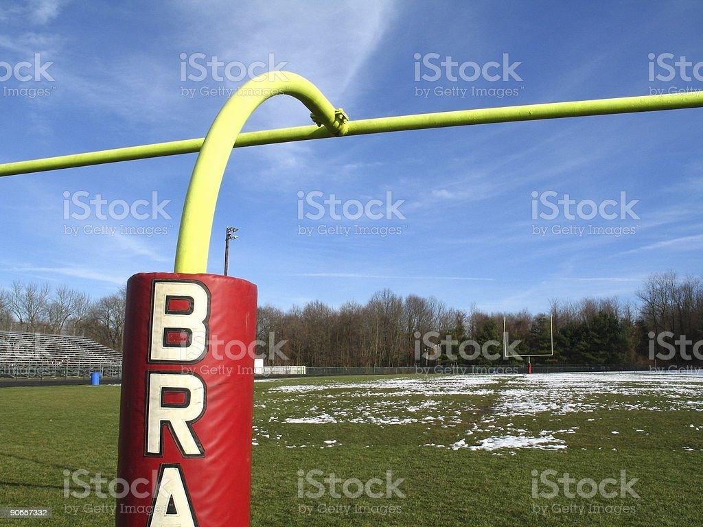 Goal Posts royalty-free stock photo